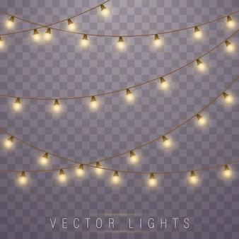 Luces de navidad. lámpara led de neón. luces brillantes