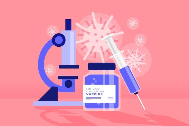 Lucha contra el concepto de virus con microscopio