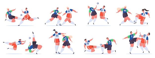 Lucha de personajes de deportistas de fútbol
