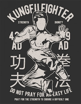 Luchador de kungfu