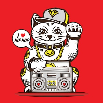 Lucky cat hip hop music