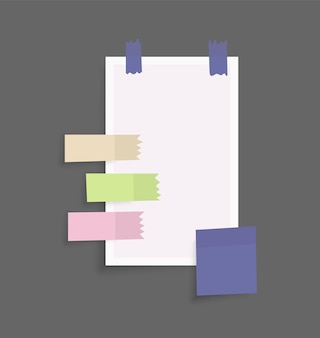 Lugar para mensajes de notas en hojas de papel