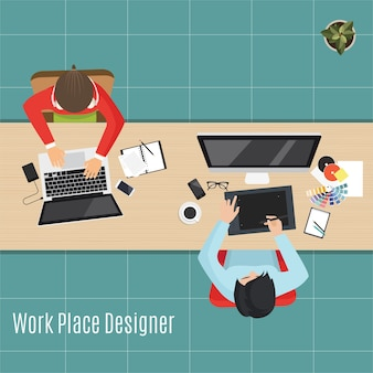 Lugar de trabajo moderno
