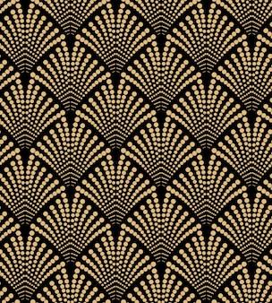 Lujo diseño art deco de patrones sin fisuras