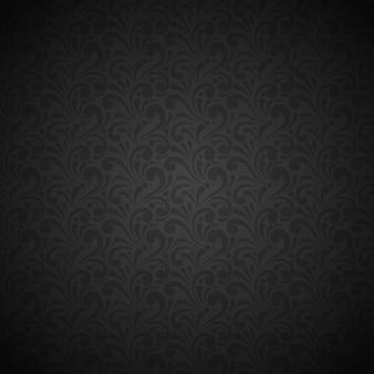 Lujo y elegante patrón negro sin costura.