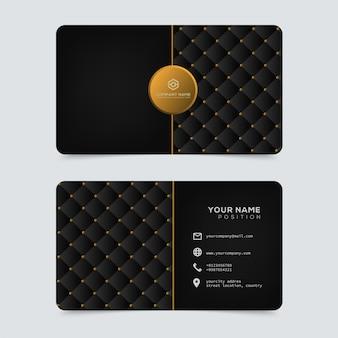 Lujo y elegante plantilla de tarjetas de visita doradas.