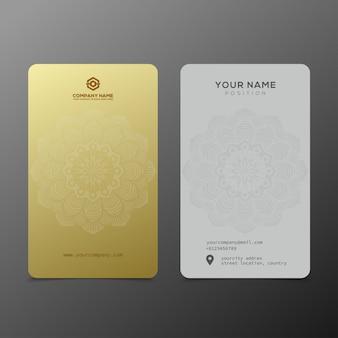 Lujo y elegante plantilla de tarjetas de visita de oro negro.