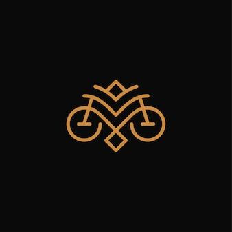 Lujo de la letra m concepto de logotipo y icono