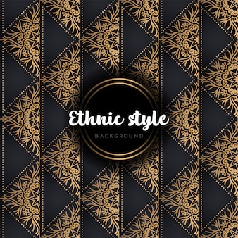 Lujo vector sin patrón patrón oro y negro