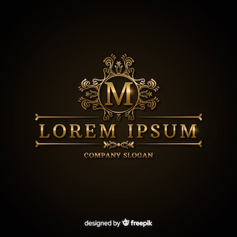 Lujosa plantilla de logotipo dorado