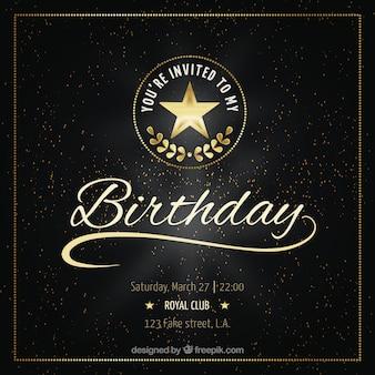 Lujosa tarjeta de  cumpleaños