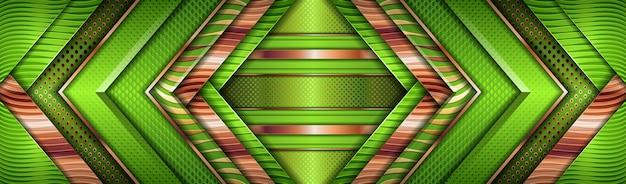Lujoso diseño de capa texturizada superpuesta de color verde brillante con efecto dorado