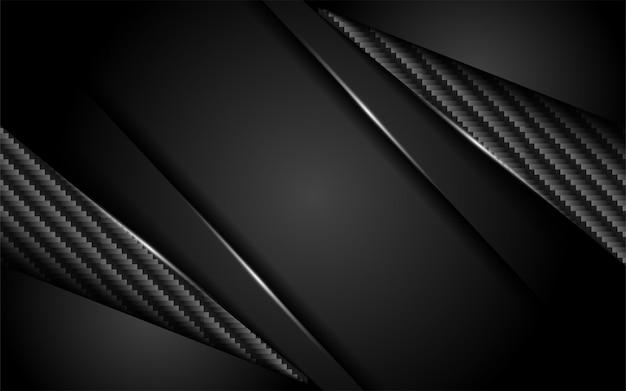 Lujoso fondo de carbono oscuro con capa superpuesta