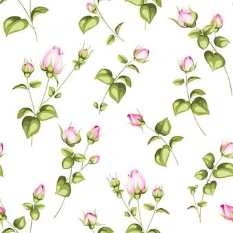 Lujoso papel tapiz rosa.