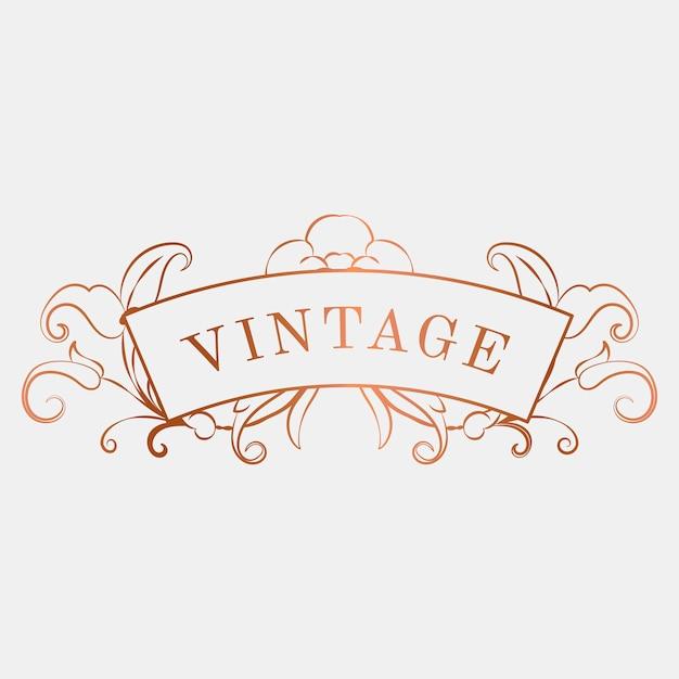 Lujoso vintage art nouveau insignia vector