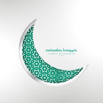 Luna verde ornamentada