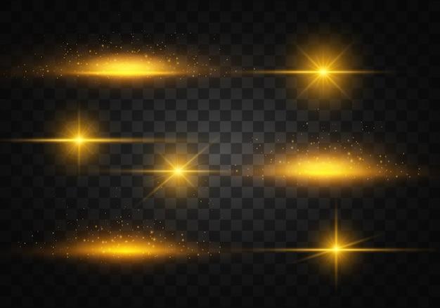 Luz amarilla. partículas de polvo espumoso. lucero.