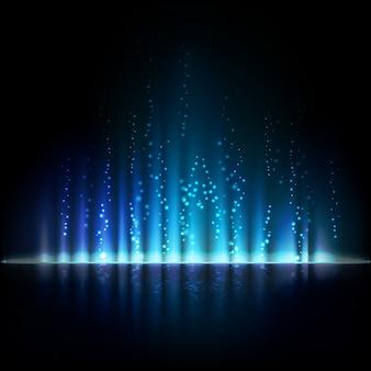 Luz azul aurora. fondo abstracto