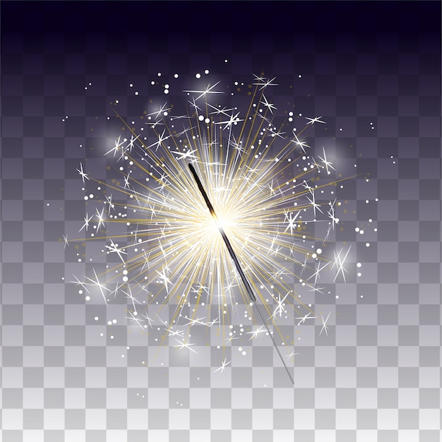 Luz de bengala realista para el diseño de celebración