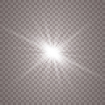 Luz blanca brillante. estrella brillante, sol brillante.
