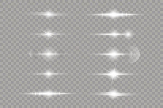 La luz blanca brillante explota sobre un fondo transparente.
