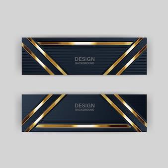 Luz de brillo con color abstracto banner de tecnología moderna oro