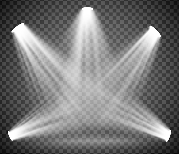 Luz cálida con humo sobre un fondo transparente. ilustración vectorial