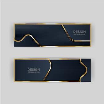 Luz de fondo de brillo con color abstracto tecnología moderna banner oro