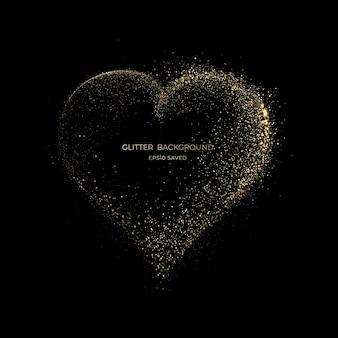 Luz de polvo de estrellas doradas, fondo brillante