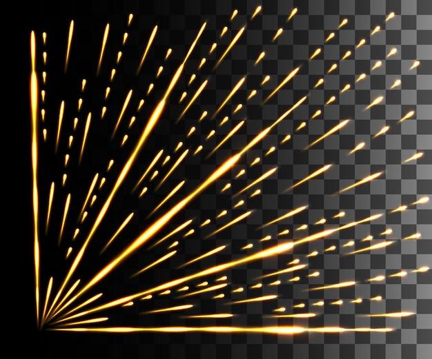 Luz resplandeciente. efecto amarillo abstracto.