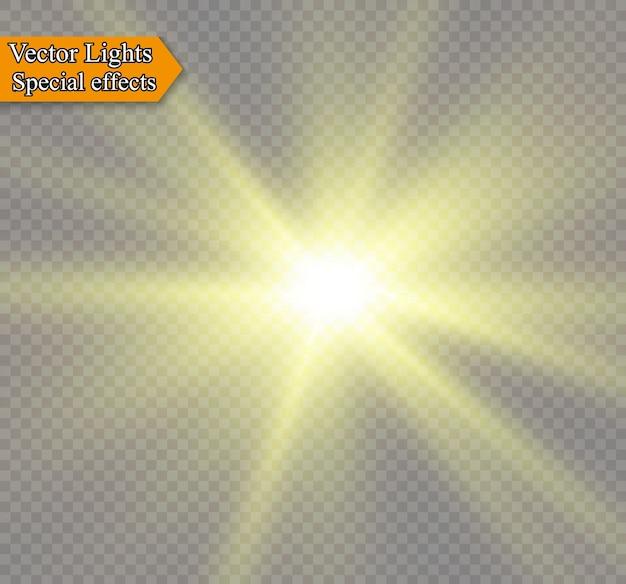 La luz del sol en una ilustración de fondo blanco