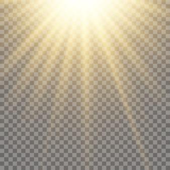 La luz del sol, un translúcido especial del efecto de luz