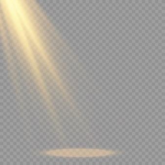 Luz solar transparente efecto de luz de flash de lente especial. flash de lente de sol frontal.