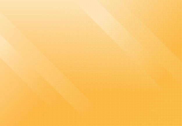 Luz suave abstracta de fondo de plantilla mínima de color degradado amarillo con decoración de trama de semitonos.