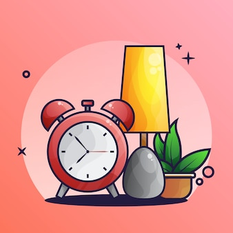 Luz de sueño e icono de alarma