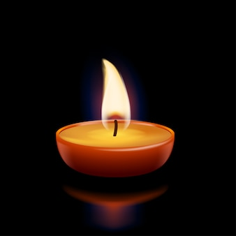 Luz de las velas en la oscuridad