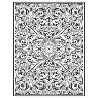 Madera tallada con dibujo floral