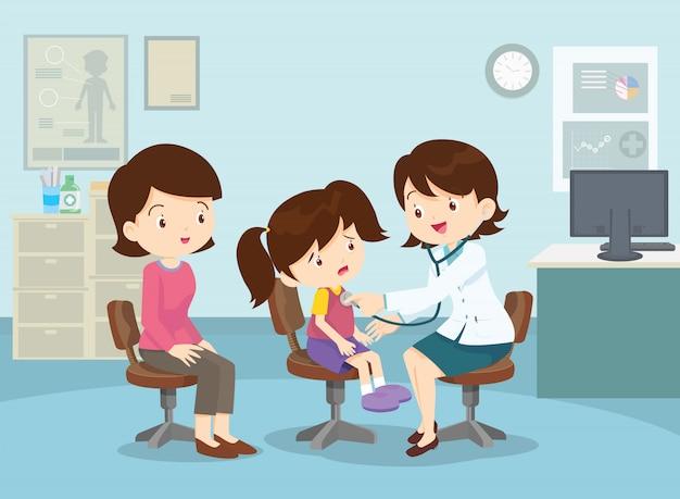Madre llevó a su niña a ver al médico.