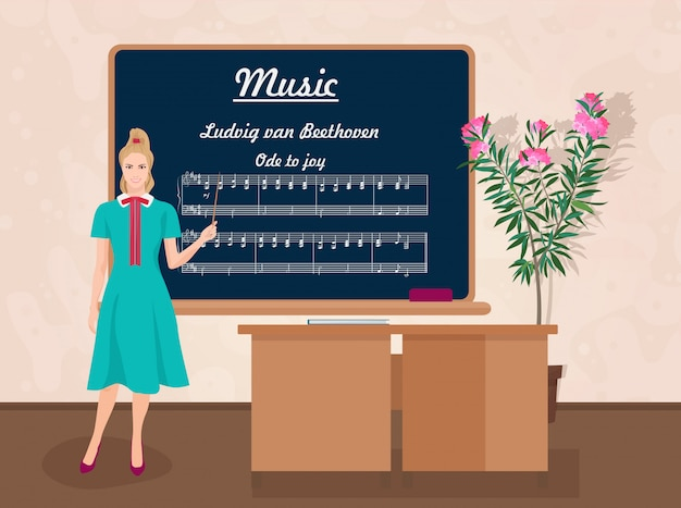 Maestra de musica escolar