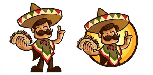Maestro de tacos de dibujos animados
