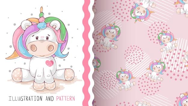 Magia fantasía unicornio - patrón sin costuras