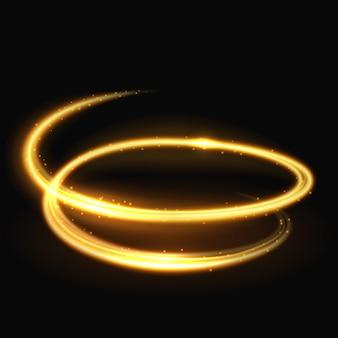 Magia luz espiral brillo y glamour vector efecto