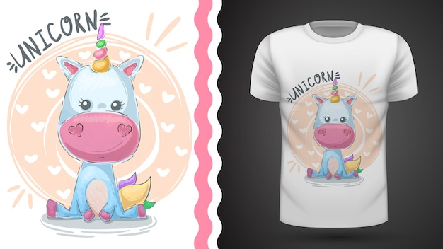 Magia, unicornio - idea para camiseta estampada