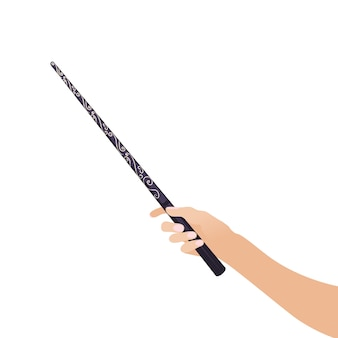 Magic wandin hand para brujas y magos vintage sticks brujería escuelas juegos de fantasía