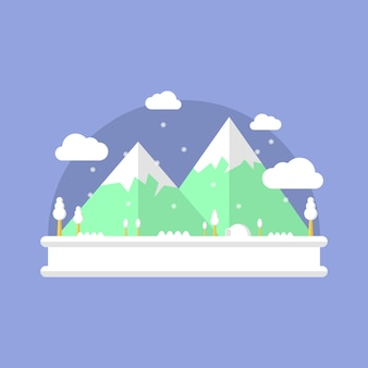 Magical snowy land
