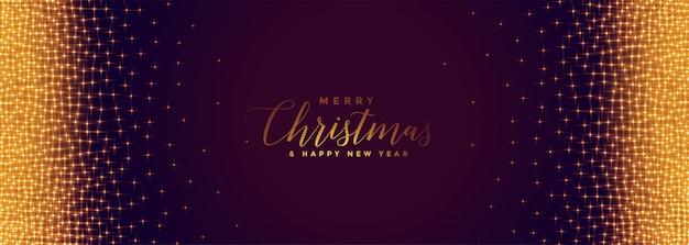 Mágicos destellos dorados para el feliz festival de navidad