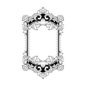 Magnífico marco barroco con espacio en blanco