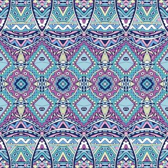 Magnífico patrón de decoración de invierno sin fisuras azulejos arabescos orientales, adornos.