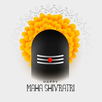Maha shivratri festival de diseño de fondo