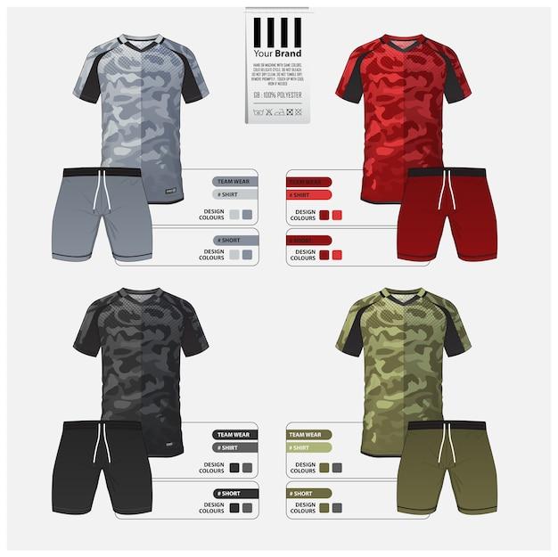Maillot de futbol o diseño de plantilla de kit de futbol.